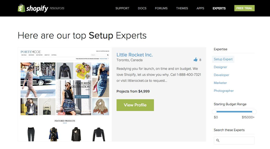 Сервис Shopify
